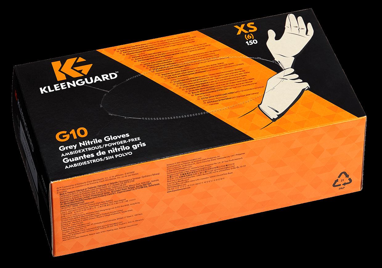クリーンガード G10 グレーニトリルグローブ XSサイズ